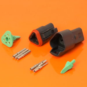 DT Series 3 Way Connector Plug & Receptacle Kit DT04-3P-CE02 DT06-3S-CE06