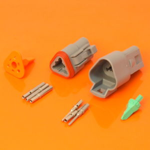 DT Series 3 Way Connector Plug & Receptacle Kit DT04-3P DT06-3S