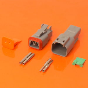 DT Series 2 Way Connector Plug & Receptacle Kit DT04-2P DT06-2S