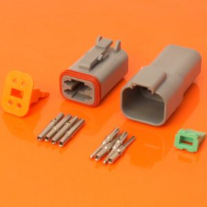 DT Series 4 Way Connector Plug & Receptacle Kit DT04-4P DT06-4S