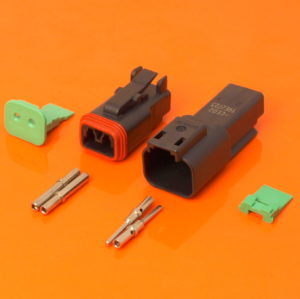 DT Series 2 Way Connector Plug & Receptacle Kit DT04-2P-CE02 DT06-2S-CE06