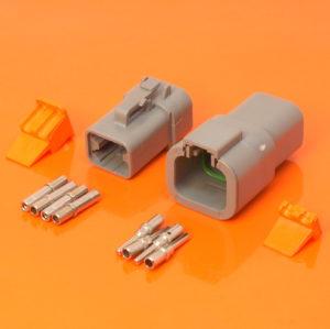 DTP Series 4 Way Connector Plug & Receptacle Kit DTP04-4P DTP06-4S