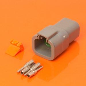 DTP Series 4 Way Receptacle Connector Kit DTP04-4P